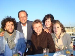 Les Jeunes Socialistes et François Hollande à La Rochelle 2010