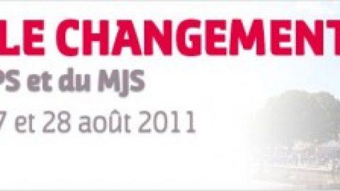 L'université d'été 2011 du PS et du MJS en direct