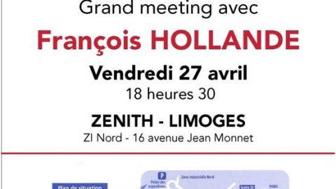 Grand meeting avec François Hollande au Zénith à Limoges