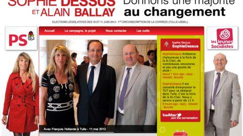 Législatives 2012 : Le site de campagne de Sophie Dessus