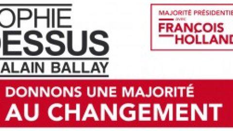 Agenda Législatives 2012 : Sophie Dessus & Alain Ballay en réunions publiques