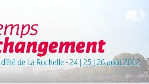 Université d'été du PS à La Rochelle – Les 24, 25, 26 août 2012