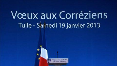 Tulle 19 janvier 2013 : Vœux du Président de la République aux corréziens