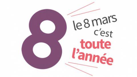 Vendredi 8 mars : Journée internationale des droits des femmes.