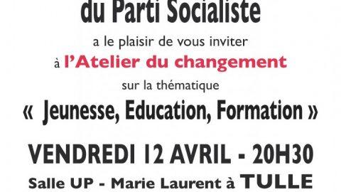 Atelier du changement, vendredi 12 avril à Tulle – Salle Marie Laurent