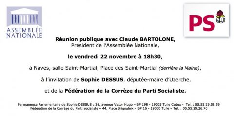 Réunion publique avec Claude Bartolone, Président de l'Assemblée nationale