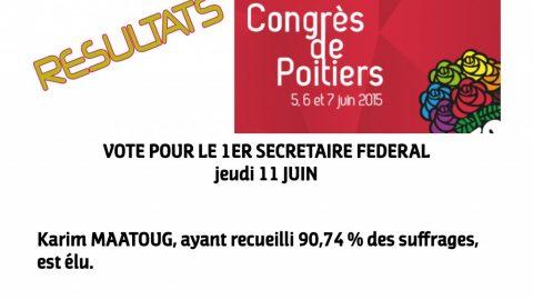 VOTE PREMIER SECRÉTAIRE FÉDÉRAL