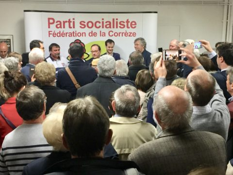 François Hollande au local de Brive