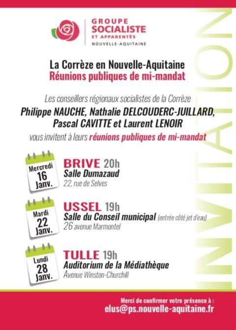 La Corrèze en Nouvelle-Aquitaine: réunions publiques de mi-mandat