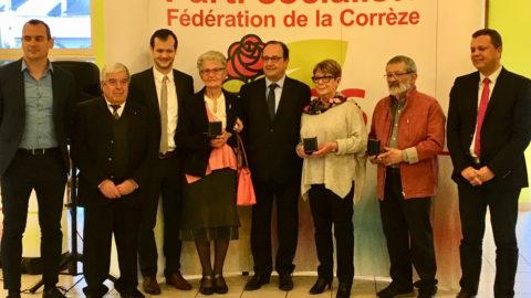 Remise de médailles Jean-Jaurès à Corrèze