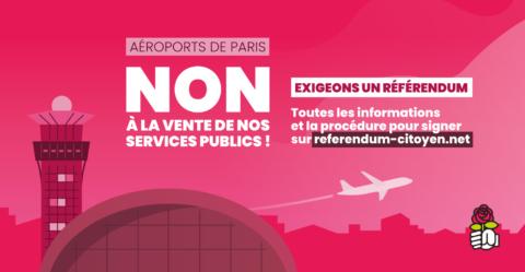 Non à la privatisation d'Aéroports de Paris !
